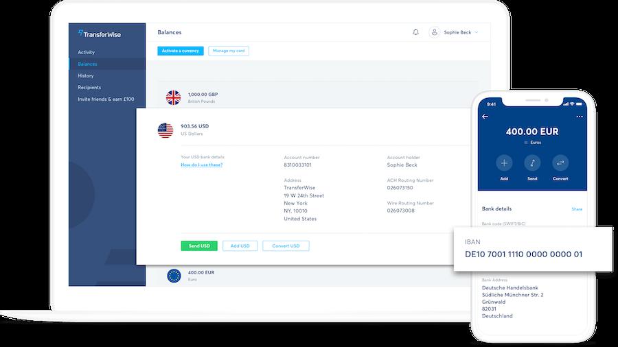 Conta multimoeda TransferWise