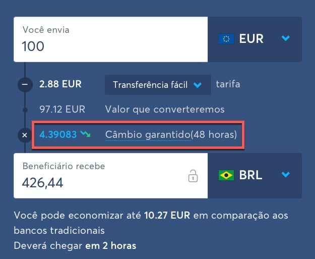 Taxa de câmbio TransferWise